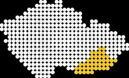 Mapa ČR - Slovácko a okolí